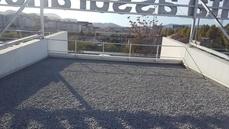 ... Terrasse Support Béton Avec Protection Gravillons